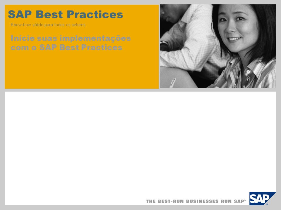 SAP Best Practices Know-how válido para todos os setores