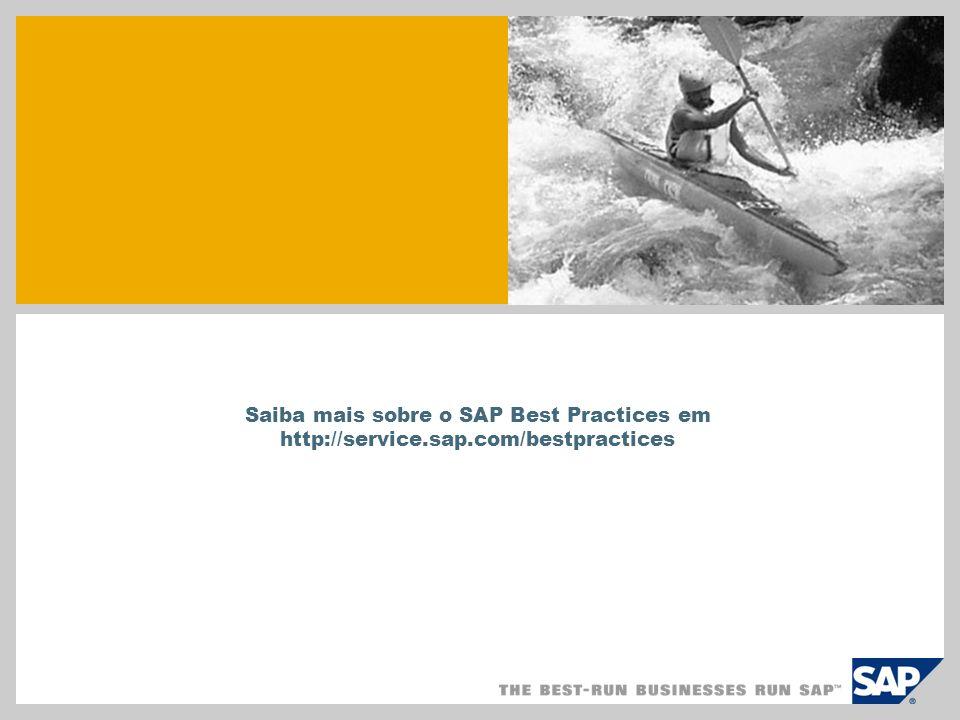 SAP TechEd '04 Saiba mais sobre o SAP Best Practices em http://service.sap.com/bestpractices
