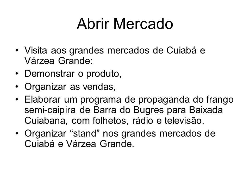 Abrir Mercado Visita aos grandes mercados de Cuiabá e Várzea Grande: