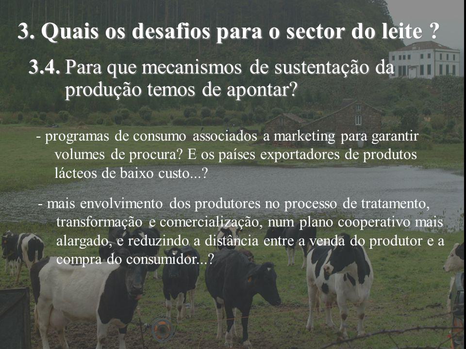 3. Quais os desafios para o sector do leite