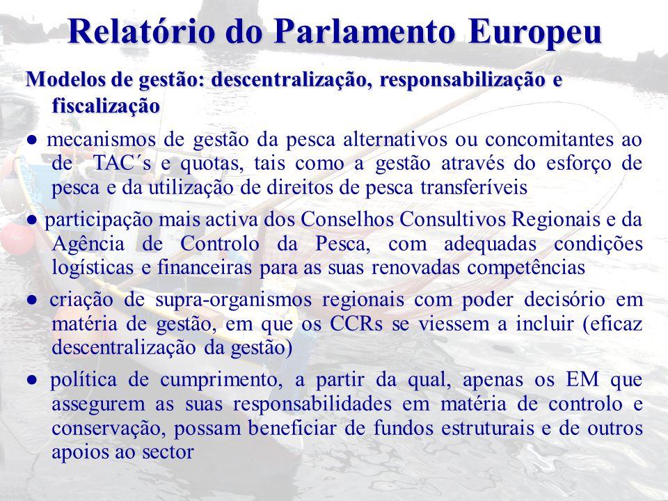 Relatório do Parlamento Europeu