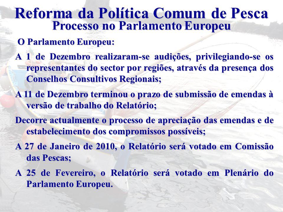 Reforma da Política Comum de Pesca Processo no Parlamento Europeu