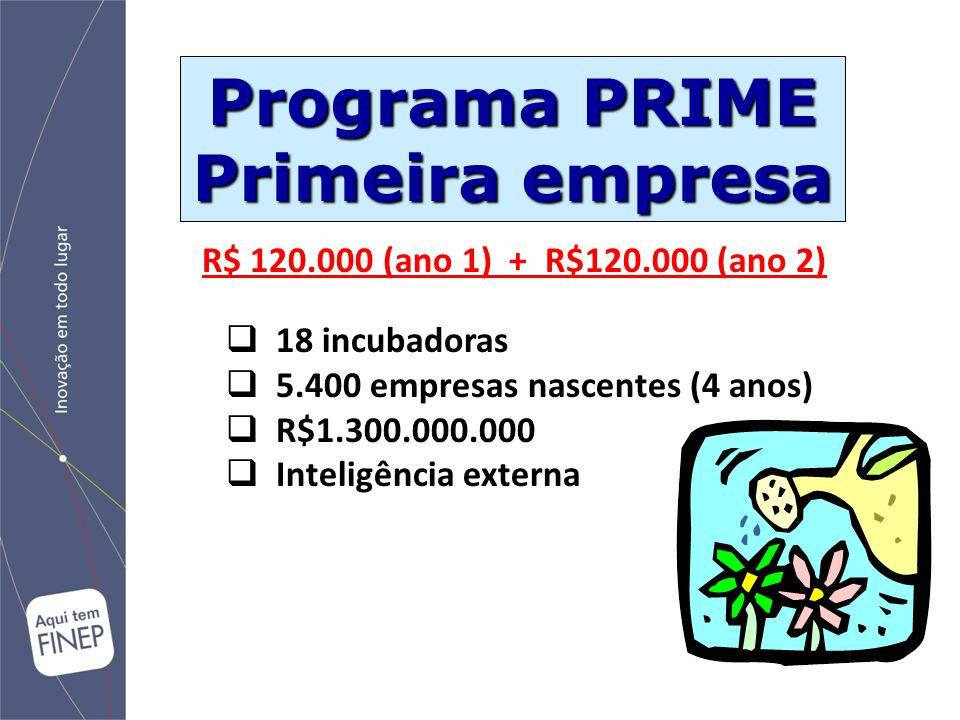 Programa PRIME Primeira empresa
