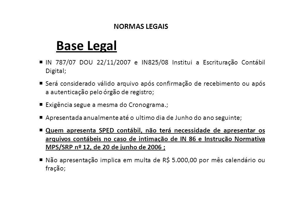 Base Legal NORMAS LEGAIS
