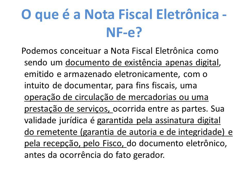 O que é a Nota Fiscal Eletrônica - NF-e