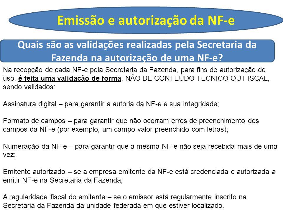 Emissão e autorização da NF-e