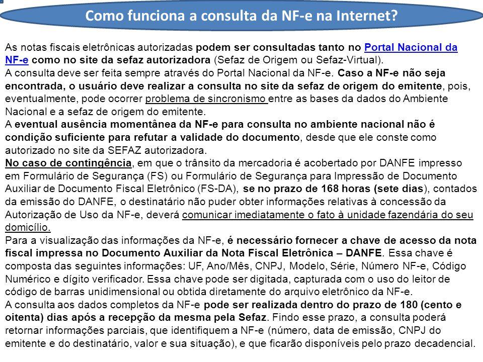 Como funciona a consulta da NF-e na Internet