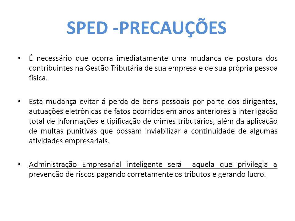 SPED -PRECAUÇÕES