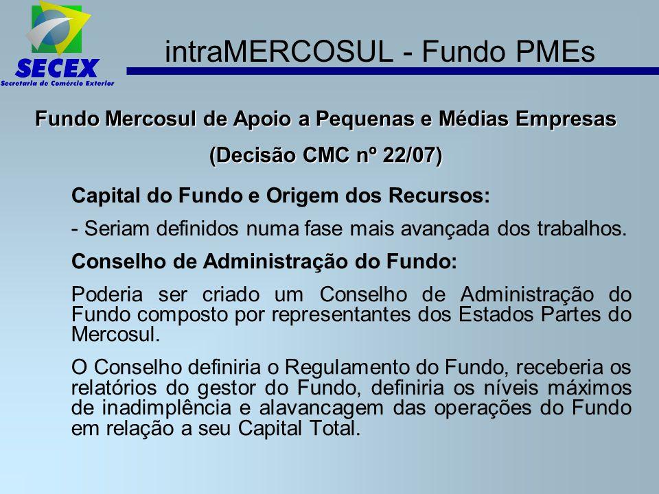 intraMERCOSUL - Fundo PMEs