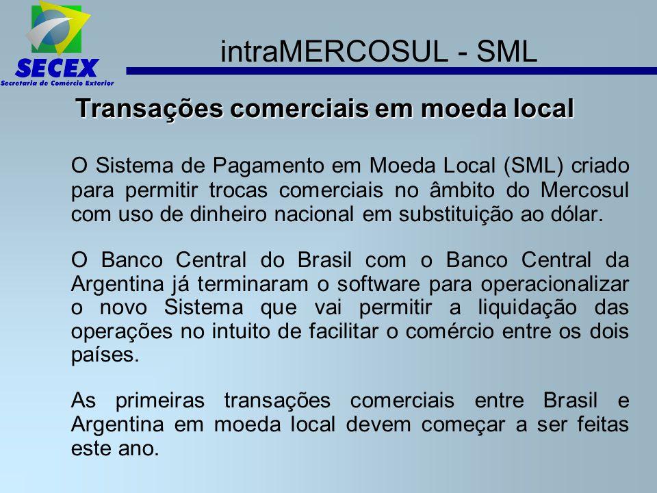 Transações comerciais em moeda local