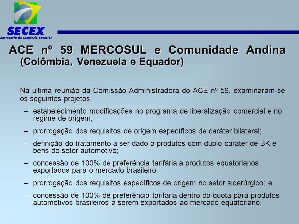 ACE nº 59 MERCOSUL e Comunidade Andina (Colômbia, Venezuela e Equador)