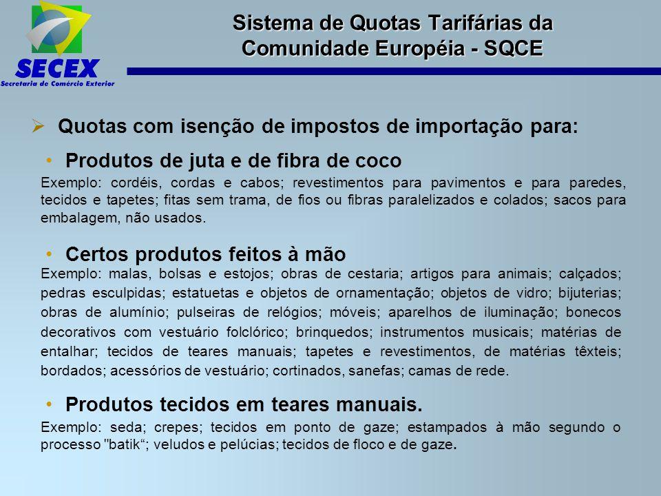 Sistema de Quotas Tarifárias da Comunidade Européia - SQCE