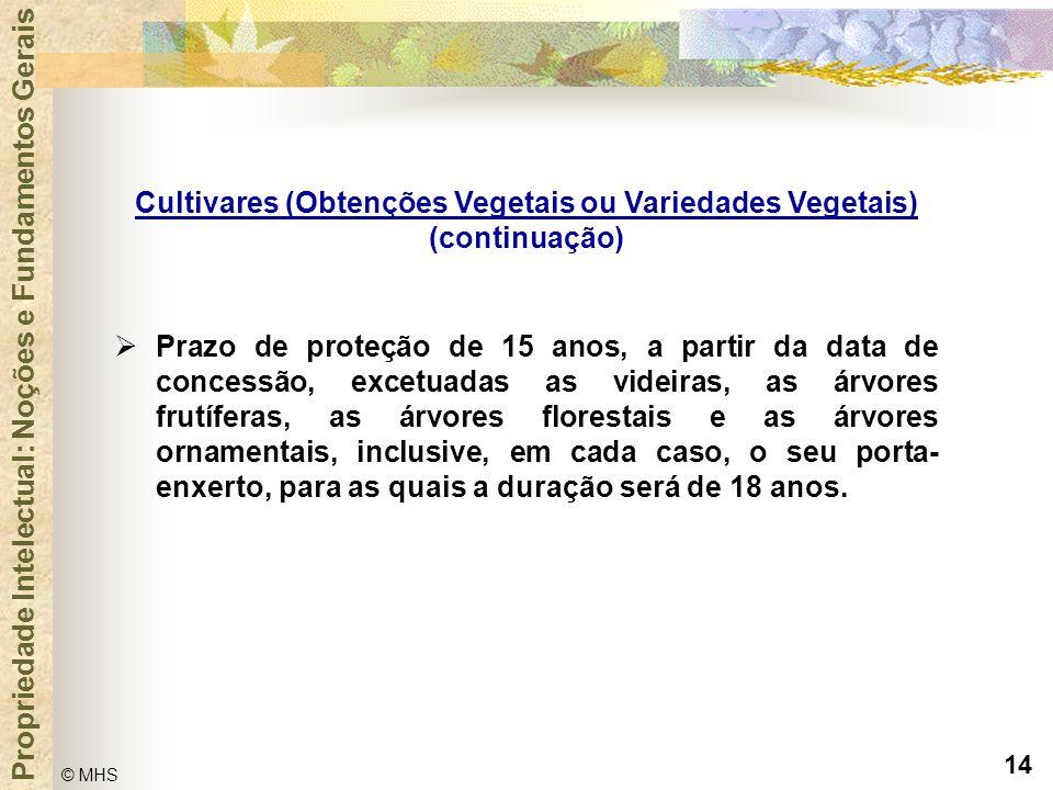 Cultivares (Obtenções Vegetais ou Variedades Vegetais)