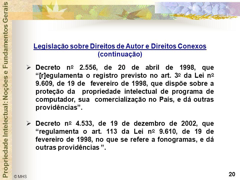 Legislação sobre Direitos de Autor e Direitos Conexos