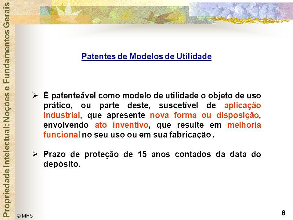 Patentes de Modelos de Utilidade