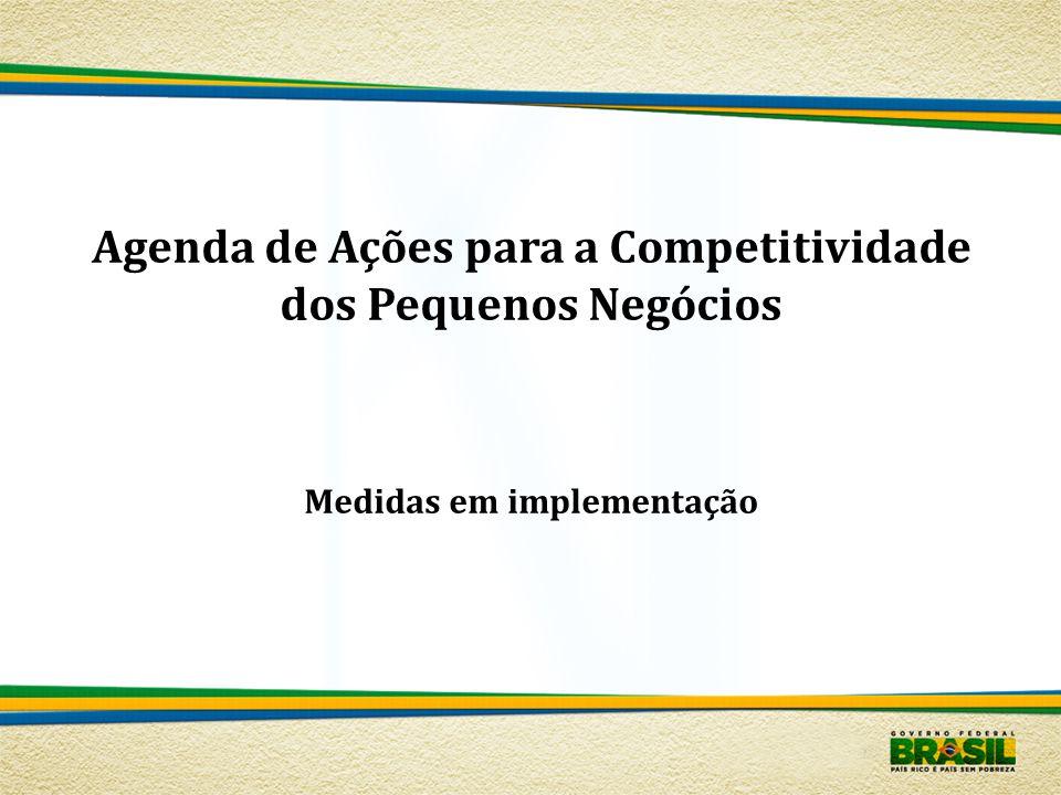 Agenda de Ações para a Competitividade dos Pequenos Negócios