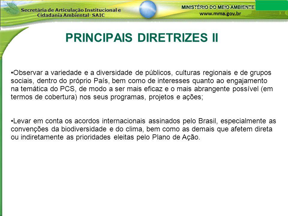 PRINCIPAIS DIRETRIZES II