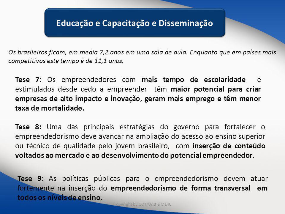 Educação e Capacitação e Disseminação Educação e Capacitação