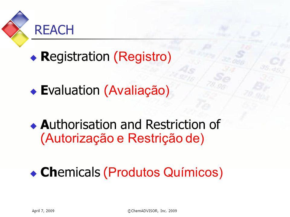 Registration (Registro) Evaluation (Avaliação)