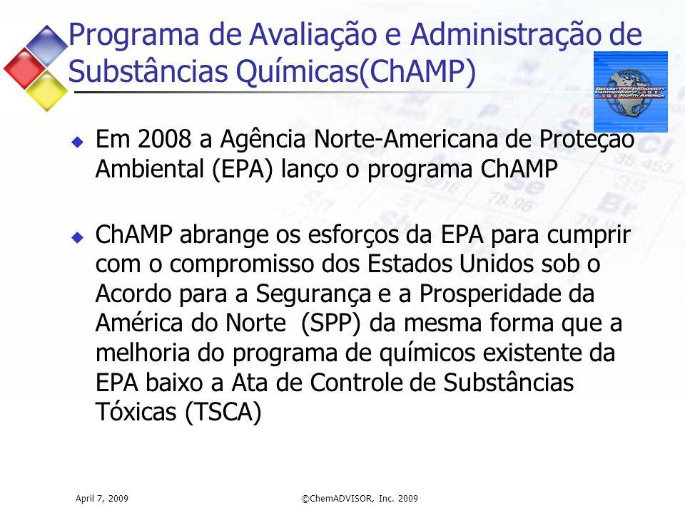 Programa de Avaliação e Administração de Substâncias Químicas(ChAMP)