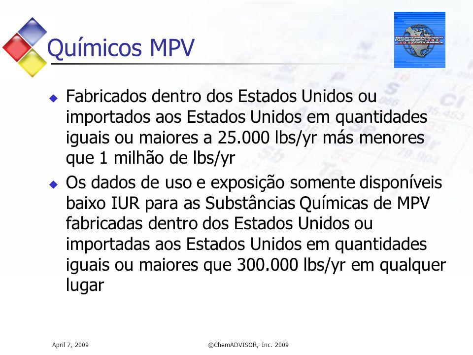 Químicos MPV