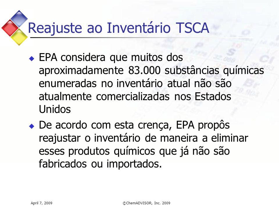 Reajuste ao Inventário TSCA