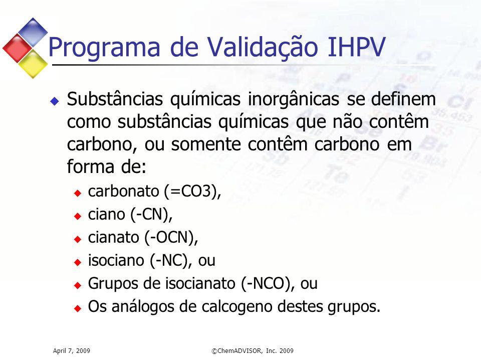 Programa de Validação IHPV