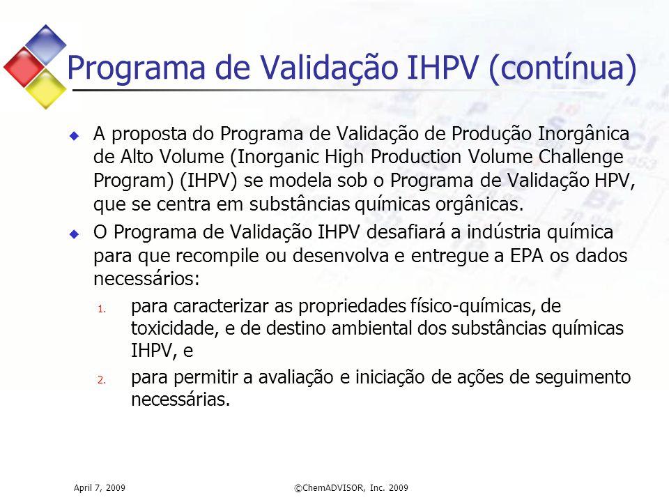 Programa de Validação IHPV (contínua)