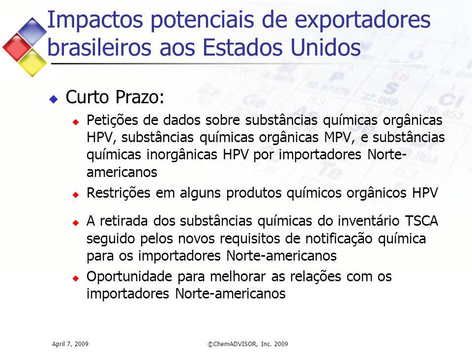 Impactos potenciais de exportadores brasileiros aos Estados Unidos