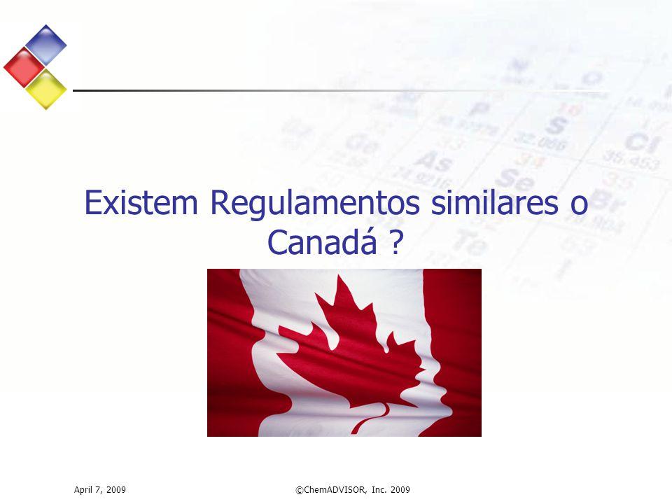 Existem Regulamentos similares o Canadá