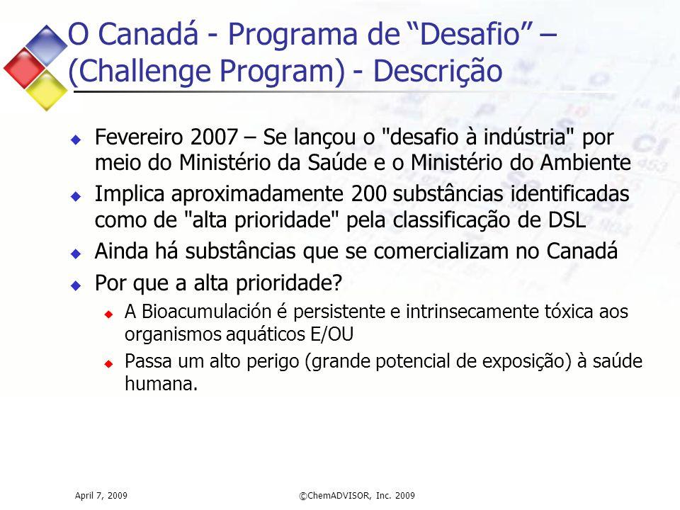 O Canadá - Programa de Desafio – (Challenge Program) - Descrição