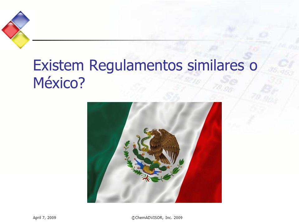 Existem Regulamentos similares o México