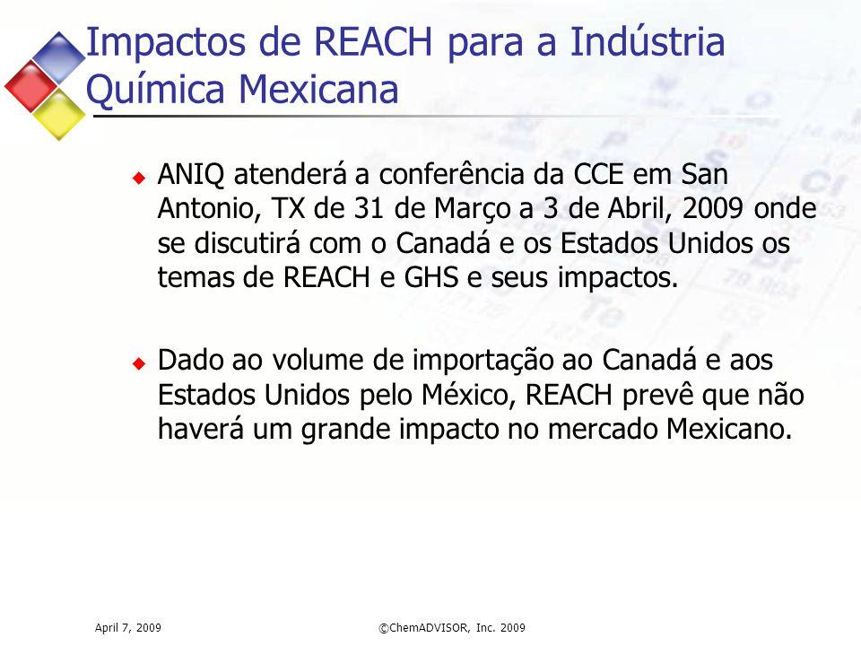 Impactos de REACH para a Indústria Química Mexicana