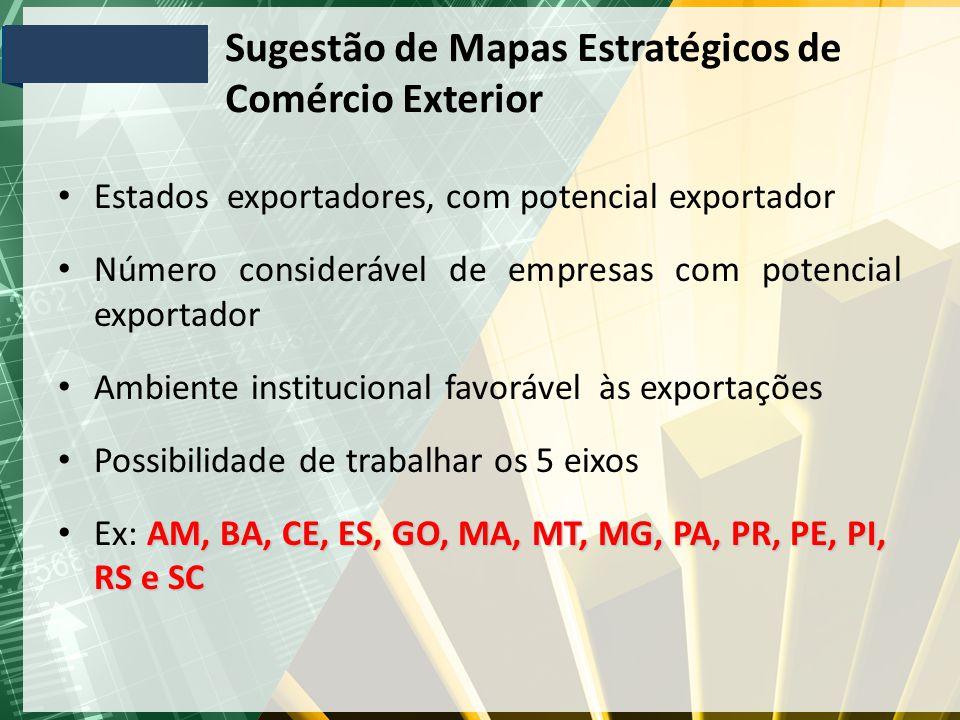 Sugestão de Mapas Estratégicos de Comércio Exterior