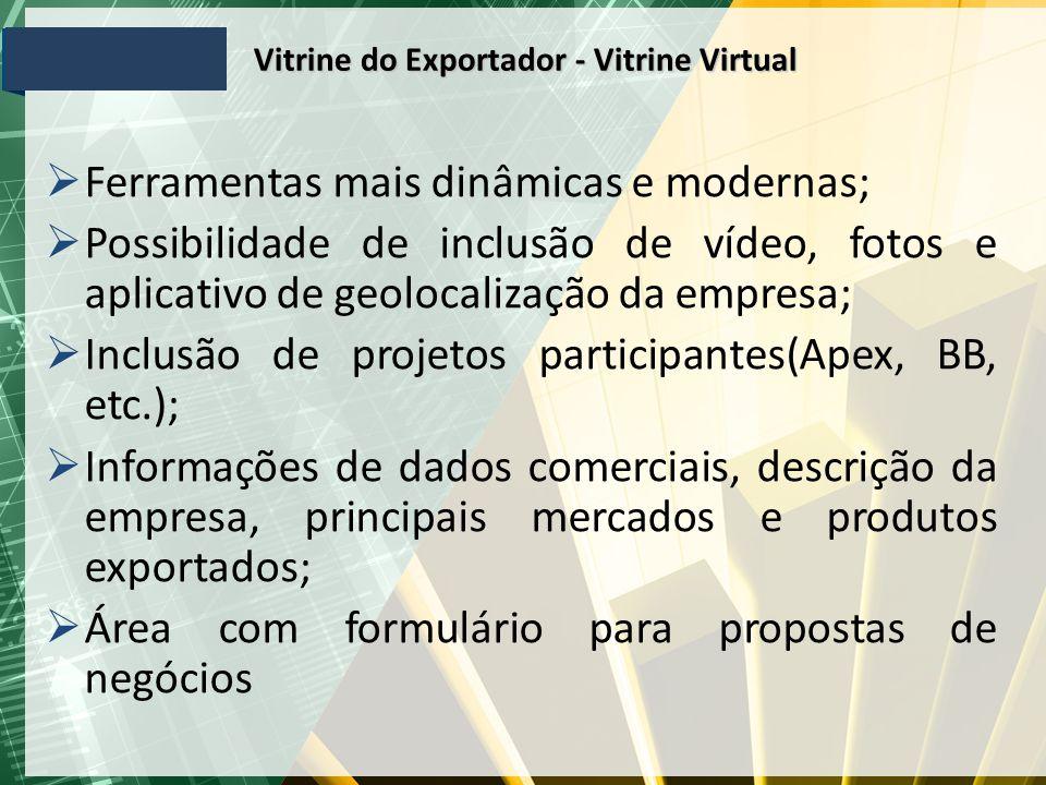 Vitrine do Exportador - Vitrine Virtual