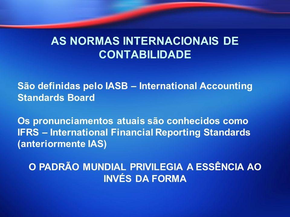 AS NORMAS INTERNACIONAIS DE CONTABILIDADE