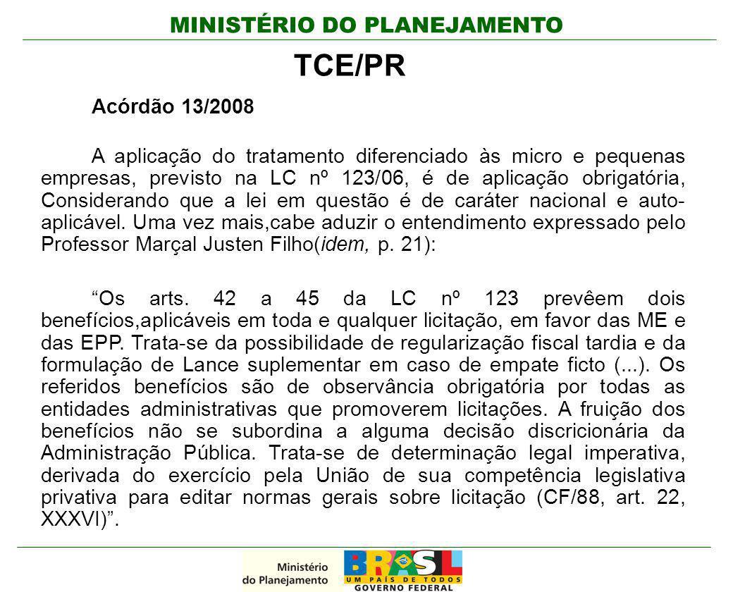 TCE/PR Acórdão 13/2008.