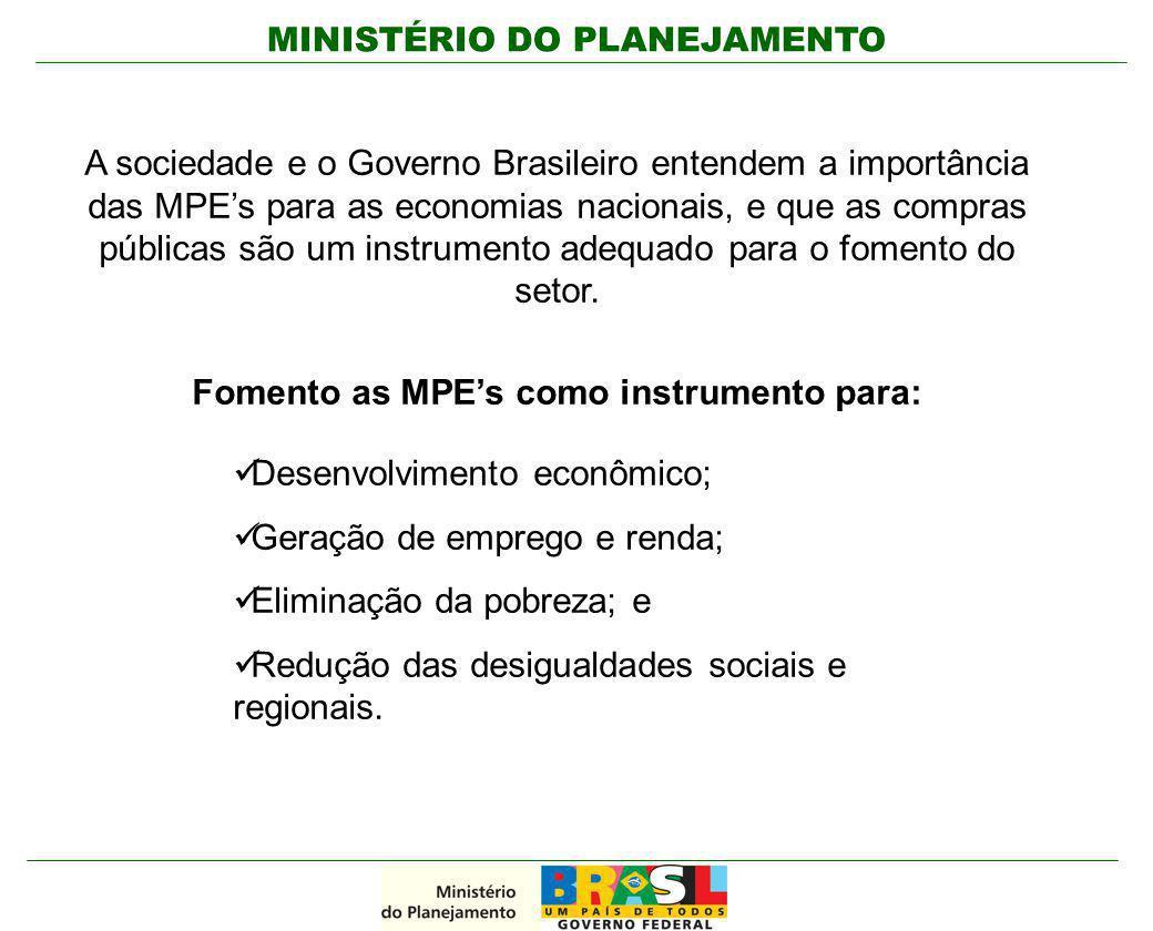 Fomento as MPE's como instrumento para: