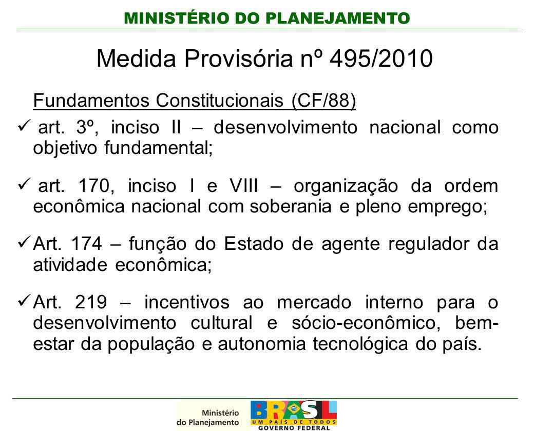 Medida Provisória nº 495/2010 Fundamentos Constitucionais (CF/88)