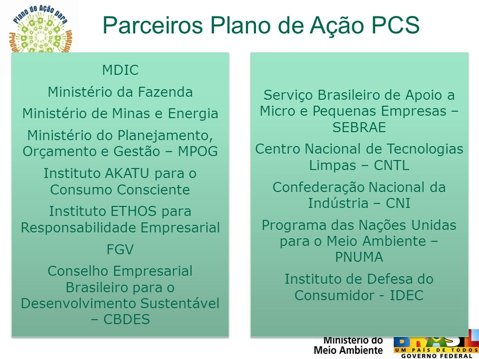 Parceiros Plano de Ação PCS