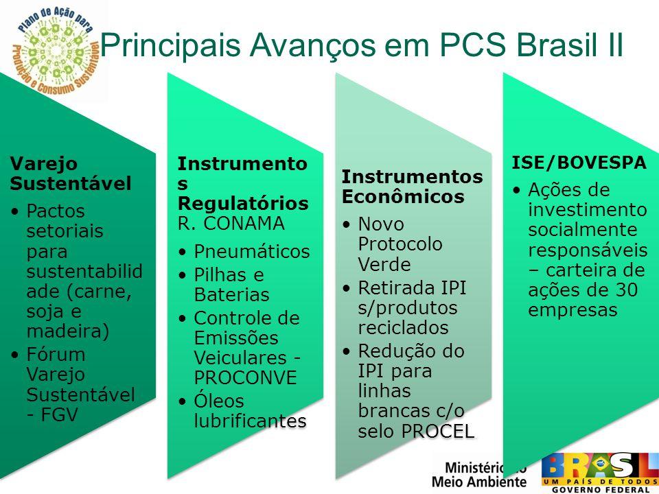 Principais Avanços em PCS Brasil II