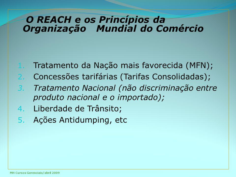 O REACH e os Princípios da Organização Mundial do Comércio