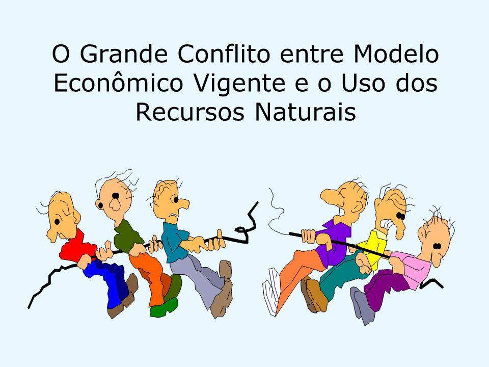 O Grande Conflito entre Modelo Econômico Vigente e o Uso dos Recursos Naturais