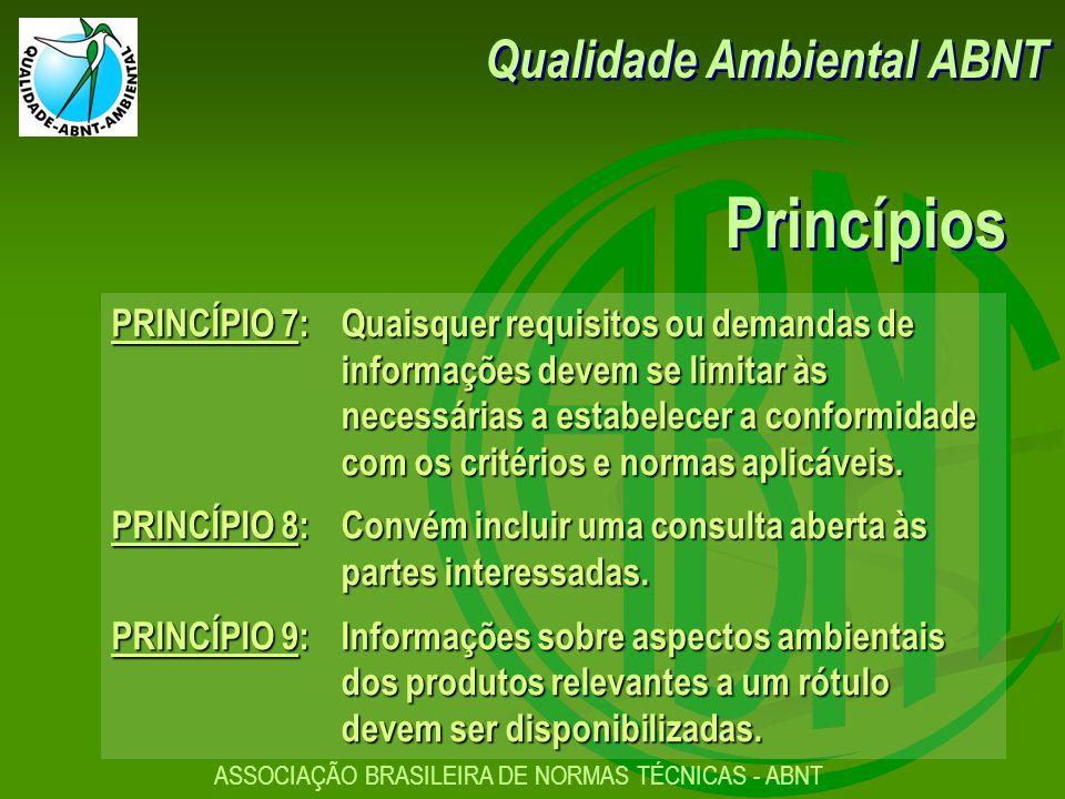 Princípios Qualidade Ambiental ABNT
