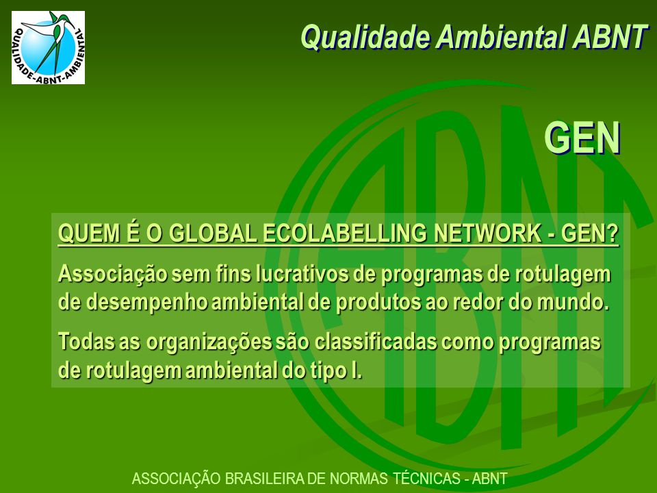 GEN Qualidade Ambiental ABNT