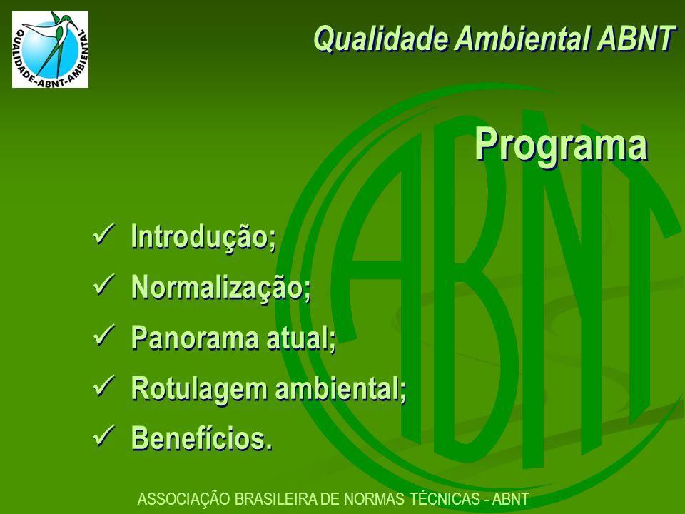Programa Qualidade Ambiental ABNT Introdução; Normalização;