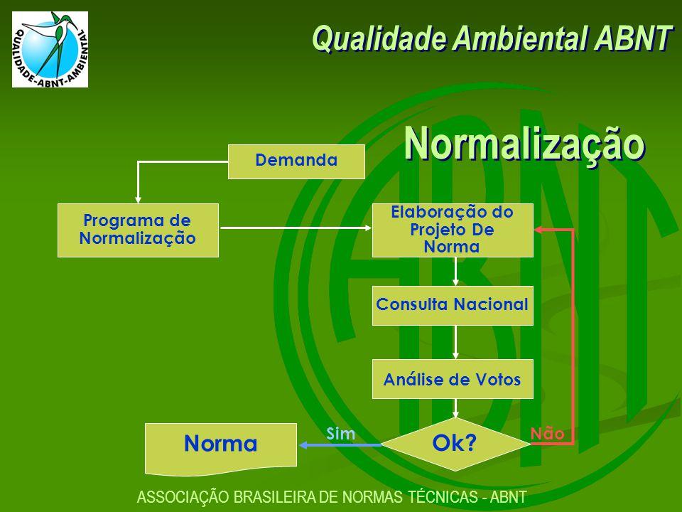 Normalização Qualidade Ambiental ABNT Ok Norma Demanda Programa de
