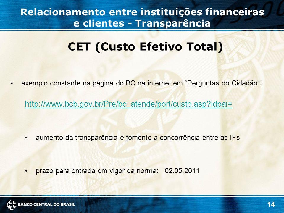 CET (Custo Efetivo Total)