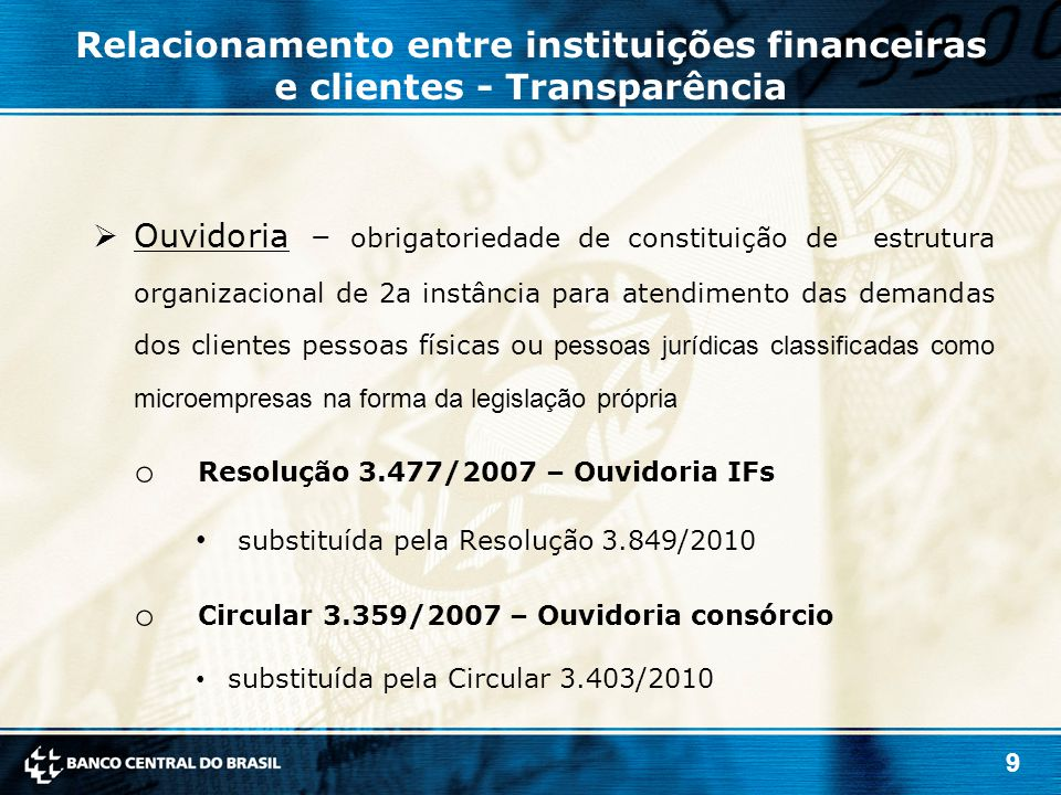 Resolução 3.477/2007 – Ouvidoria IFs