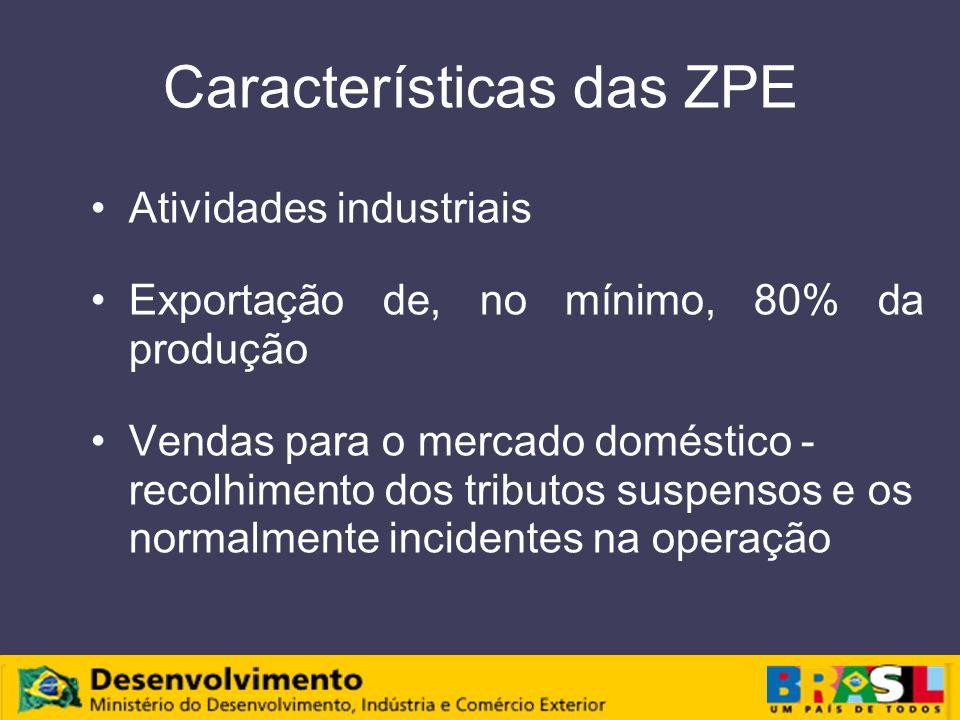 Características das ZPE